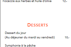 Les Fromages & Desserts