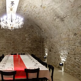 Cellar with 50 chairs