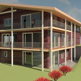 Projet à Dompierre petite immeuble en ossatrue bois