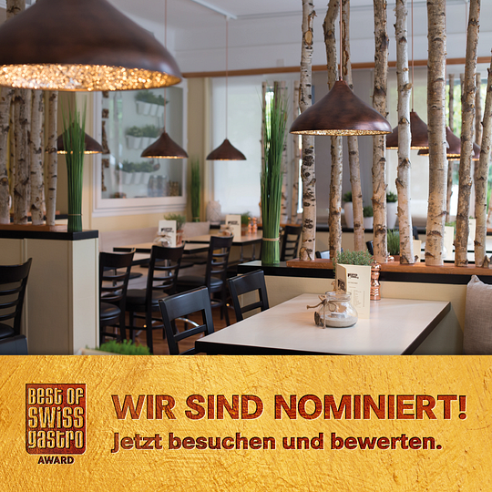 Best of Swiss Gastro 2019 / Wir sind nominiert / bosg.ch/6605