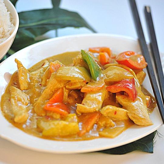 Riz poulet au curry
