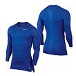 NIKE Pro Compression LS Shirt - Royalblau