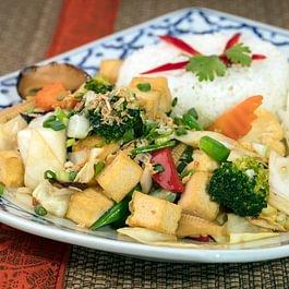 Tofu sauté aux légumes