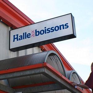Enseigne Halle aux Boissons de Conthey