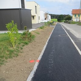 Trottoir route de la Scie-au-Crot à Corserey - année 2013 - 2016