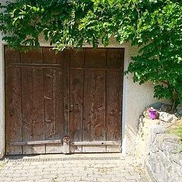 Ancienne porte basculante motorisée