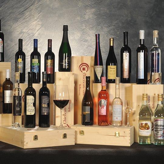 Assortimento di produzione Chiericati vini, disponibile nell'Enoteca Convento