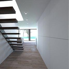 3D intérieur villa familiale 3