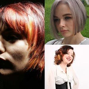 Haarfarben dieverser Techniken