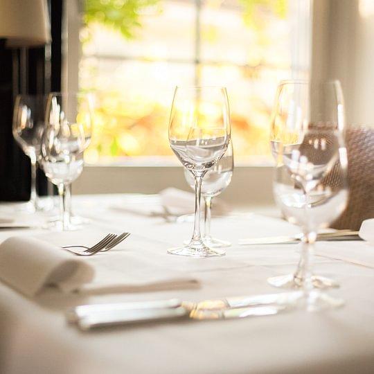 Tisch in der Steinburg