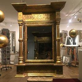 Aedikula Rahmen Renaissance mit Ornament Blattvergoldet
