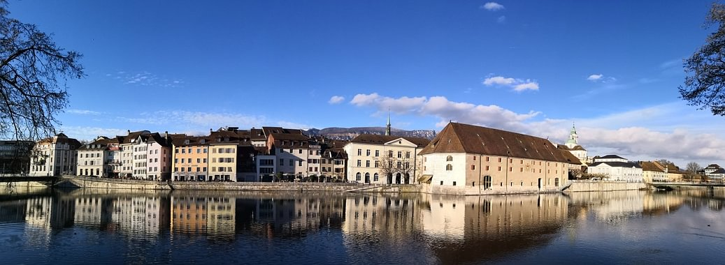 Solothurn, Landhausquai, Aare Riviera