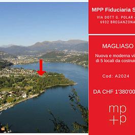 Magliaso - Moderna villa 5 locali da costruire vicino al lago in vendita - malcantone, sole, tranquillità, real estate