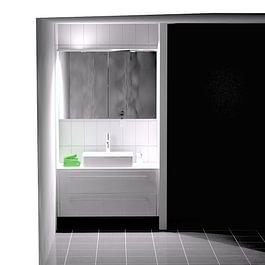 Badezimmermöbel (3-D Visualiserung), Wollerau