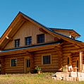 Naturstamm Blockhaus