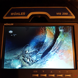 Kanalisationsdefekt mit Kamera geortet