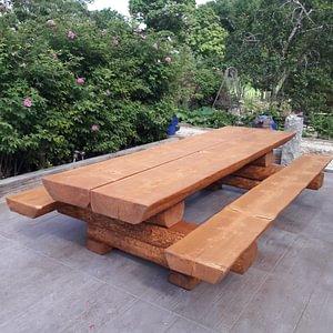 Fabrication de tables de jardin