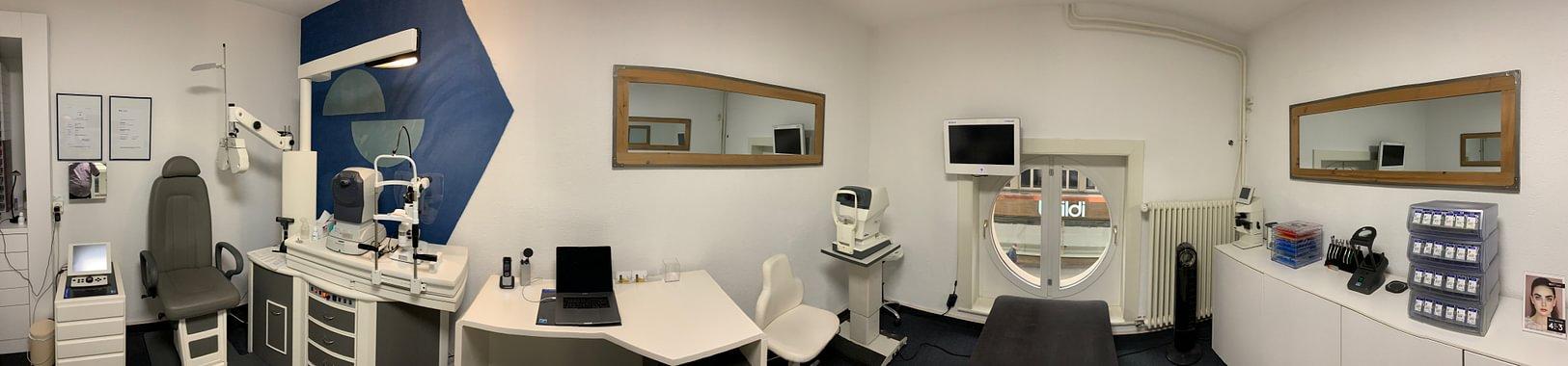 Une des salle d'examen de la vue