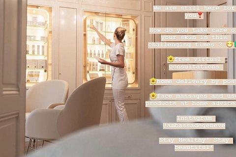 Consultation virtuelle de votre peau et récupérer vos produits livrés chez vous