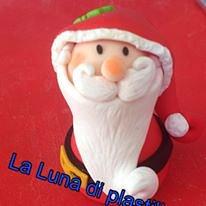 La Luna di Plastilina - statuina decorativa di Natale