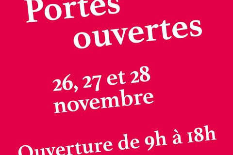 Portes ouvertes 26, 27 et 28 novembre 2020