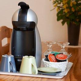 Kaffeemaschinen in allen Zimmer
