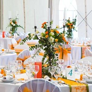 Festliche Hochzeitstafel