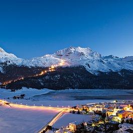 Snow Night Corvatsch