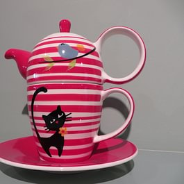 Baumgartner & Co. AG, St. Gallen - Tea for one, Katzen Dekor