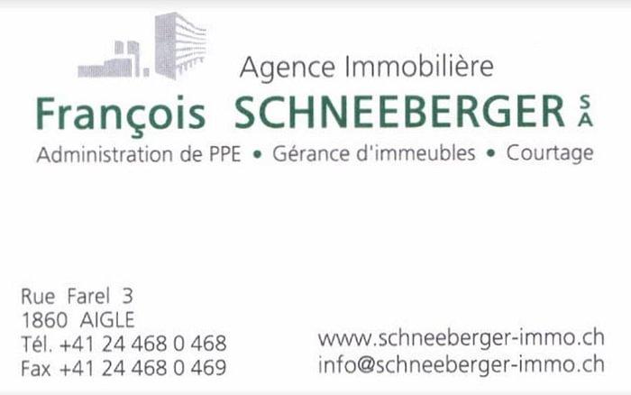 Agence immobilière François Schneeberger SA