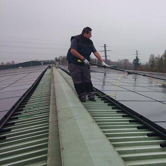 Solarzellenreinigung