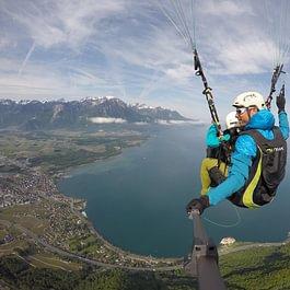 parapente biplace, Paragliding tandem fun Montreux
