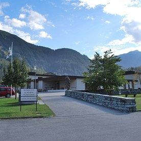 Eingang Pflegezentrum Glienda Andeer