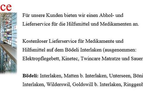 Liefer- und Abholservice in Interlaken und Umgebung.