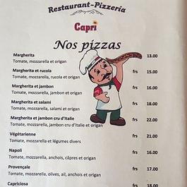 carte pizza Capri monthey 1