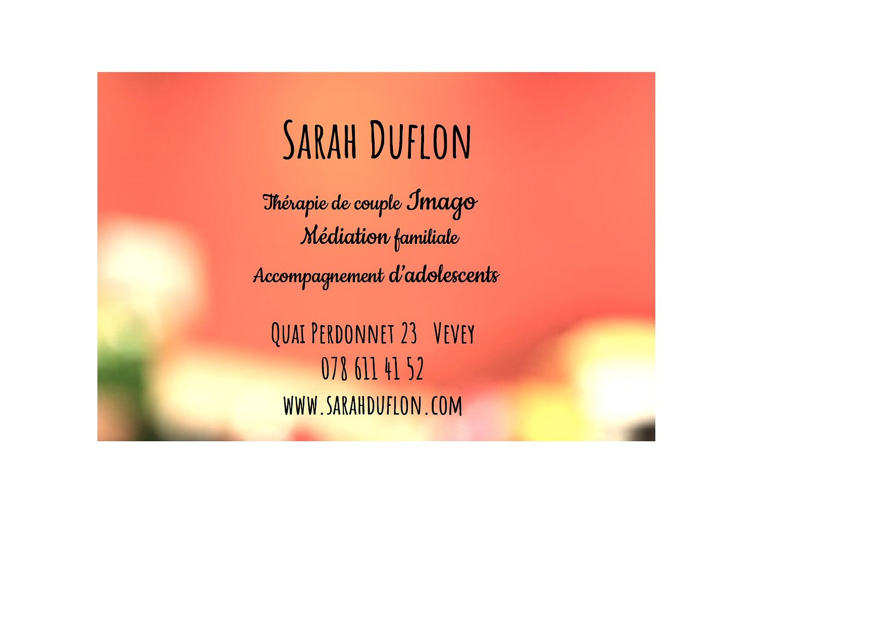 Duflon Sarah Vevey