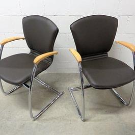 Shogun 6 Stühle von Girsberger neu beziehen in Leder Atlantic