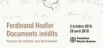 Ferdinand Hodler, documents inédits - Fleurons des Archives Jura Brüschweiler