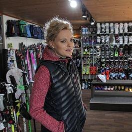 mode, ski, chaussures, location.