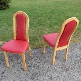 Stuhl von Scheffler neu beziehen in Leder Atlantic rosso