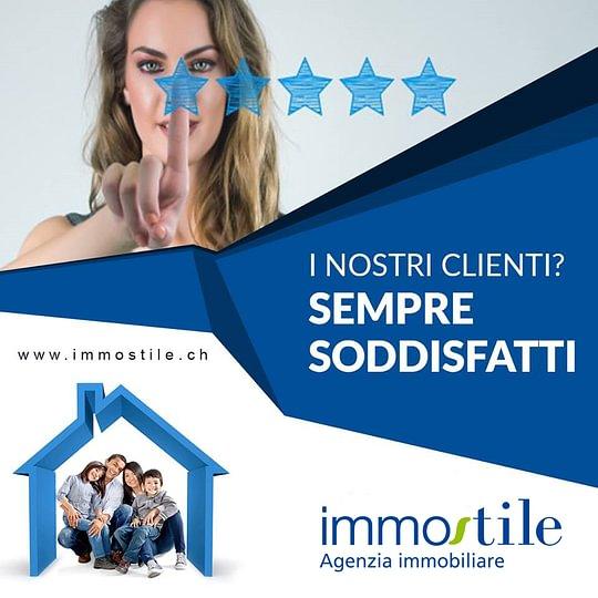 Per Immostile Agenzia Immobiliare la soddisfazione dei clienti è la cosa più importante.