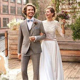 Hochzeitsanzug, vintage, Green Wedding