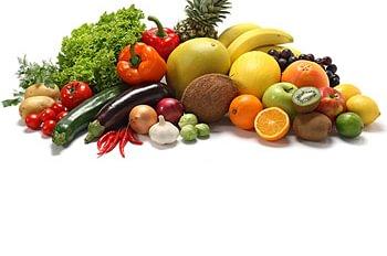 Früchte und Gemüse, küchenfertige Produkte