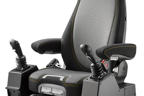 Komfort-Fahrersitze für Baumaschinen