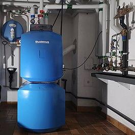 Chaudière et production d'eau chaude sanitaire pour villa