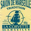 savon de Marseille véritable La Corvette en cube, copeaux