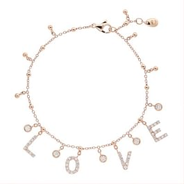 Crivelli: Necklace with white diamonds in rose gold 18 kt