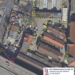 DKS Infra Neu Parkplatz Orthofoto Basel