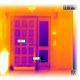 thermographie d'une porte d'entrée