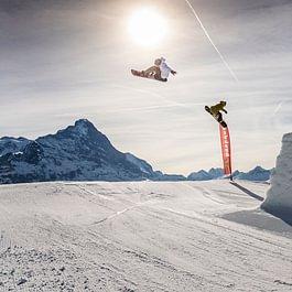 Backdoor Los Perros Volantes im Snowpark Grindelwald-First